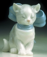 This adorable, sleeping kitten makes a purr-fect gift or whimsical addition to your decor.