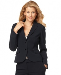 A well-tailored addition to your work wardrobe, roll up the cuffs of this Calvin Klein jacket to reveal a pop of pinstriped lining. At this price, it's an unbeatable essential.