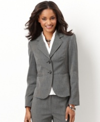 Keep it simple and smart in this tic weave patterned blazer from Charter Club, a priced-just-right Everyday Value.