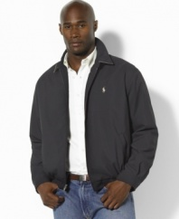 Classic-fitting jacket in weather-resistant microfiber.