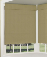 Dress up any window's view with the streamlined design of a roller Roman shade mixed with appealing texture. Perfect for adding contemporary charm to any room, it is also lined for convenience and cordless for added safety.