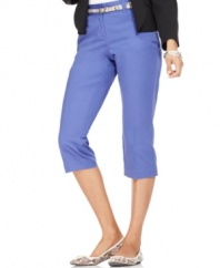 Lean and elegant, Style&co.'s classic capri pants feature a removable skinny belt as the finishing touch!