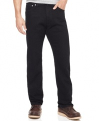 Go dark. These jeans from Nautica dials your wardrobe of blues back to black.