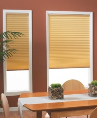 Create the lighting atmosphere you desire without sacrificing style with these cordless, room-darkening pleated shades. Metallized to evenly block out light, these sleek shades feature a modern pleat design in a range of versatile hues to complement any decor. The cordless design allows you to easily adjust each shade to the height you require.