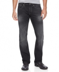 Set the record straight.  Out with your old bootcut jeans and in with these straight-leg jeans from Marc Ecko.