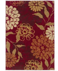 Meeting somewhere between modern and traditional, this Sphinx area rug features a bold floral motif that pops against a rich sangria-red ground. Pairing a hard-twist nylon construction with a special dyeing technique, this transitional piece is designed to recreate the look and feel of the finest antique rugs.