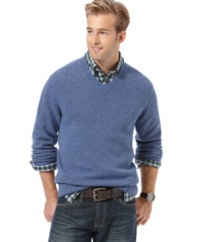Be a total softie. In this merino wool sweater from Nautica, you won't need any other excuse.