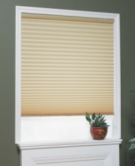 What if you could fill your room with soft, natural light and maintain your privacy? With this light-filtering pleated shade, you can! Featuring horizontal pleating for a sleek, versatile look and a convenient cordless design that allows you to easily adjust the shade height.