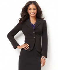 Charter Club's Everyday Value blazer is a polished essential to pair with pencil skirts and pants-- or wear with jeans for  put-together casual Friday style.