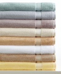 Charm your bath with comfort. This Classic bath towel from Charisma boasts luxurious Egyptian cotton for an ultrasoft hand, offered in a spectrum of  soothing hues.