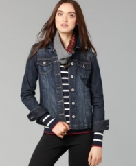 The Hope jacket from Tommy Hilfiger gives a rugged spin to any look. Pair it with a flirty dress for high contrast, or with your favorite pants for weekend-ready style.