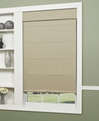 Dress up any window's view with the streamlined design and subtle texture of cotton twill. Perfect for adding contemporary charm to any room, this cotton twill roman shade is also lined with a thermal backing for convenient insulation, no matter the season.