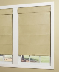 A silky smooth alternative to standard Roman shades, this faux silk thermal Roman shade features a streamlined design with an ultra-soft hand, making it perfect for adding elegance and texture to any room.